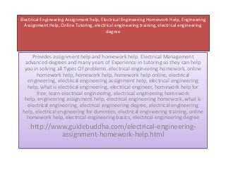 Electrical Engineering Assignment - My Homework Help
