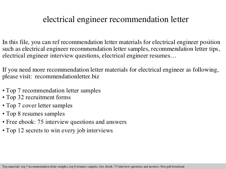 Electrical engineer recommendation letter spiritdancerdesigns Image collections