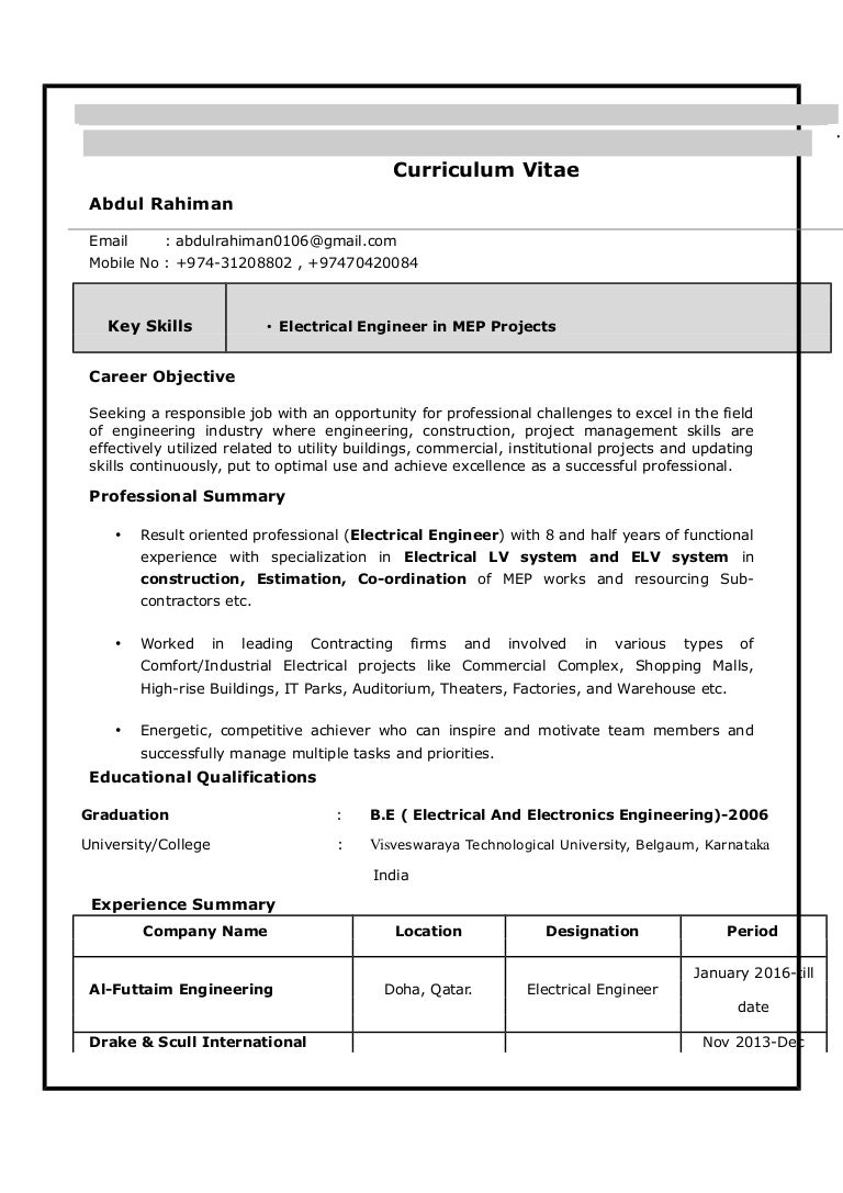 Fresh Essays Resume Templates For Engineering Students Xantho Us