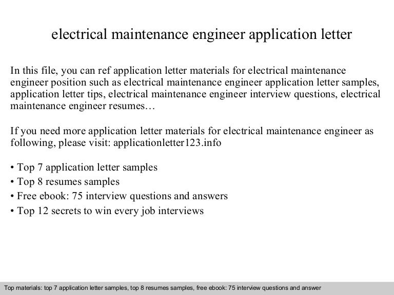 electrical maintenance resumes