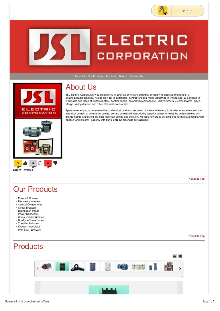 Electrical materials and supplies jsl electric corporation