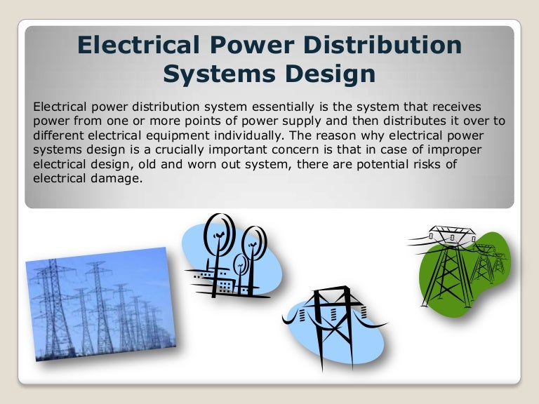 Electrical Power Distribution Systems Design