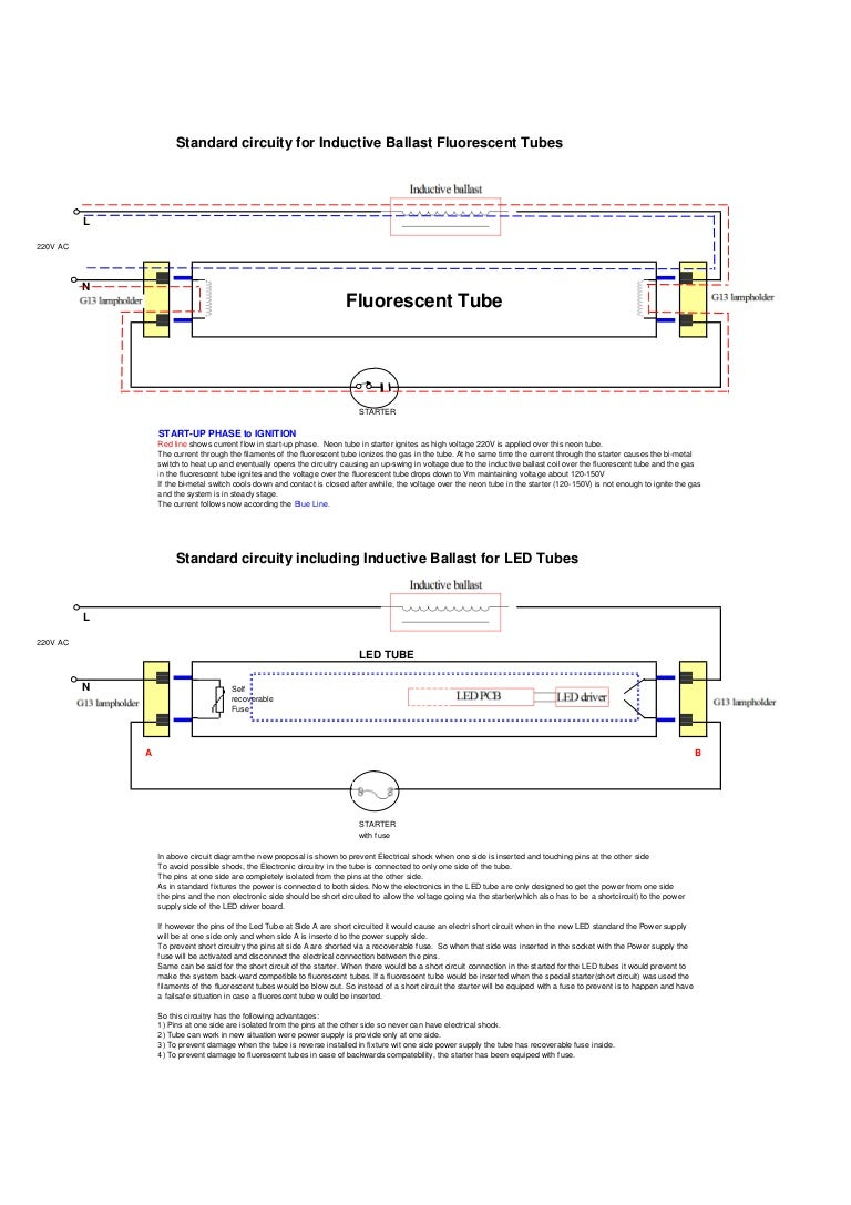 Ce Standard Circuit For Led Tubes Replacing Fluorescent Wiring Diagram Lighting
