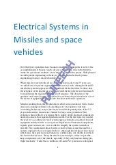 Electrical systems in missiles and space vehicles