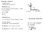 Electric field solving