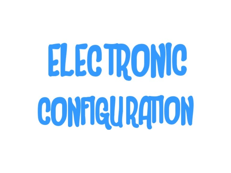 Electronic Configuration Chart  Incredible Project On Gtciv