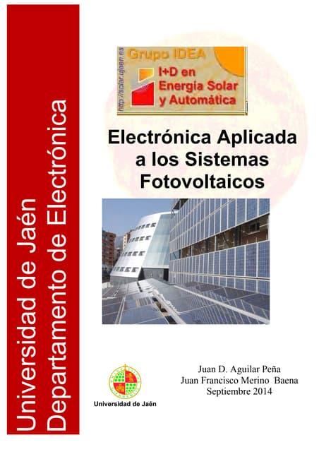 Electrónica Aplicada a Sistemas Fotovoltaicos