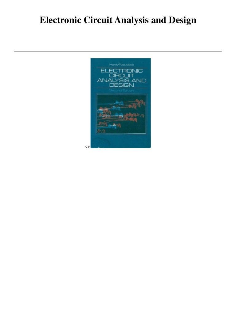 electronic circuit analysis and designelectroniccircuitanalysisanddesign 170506040437 thumbnail 4 jpg?cb\u003d1494043550