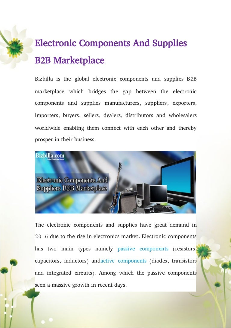 Electronic Components And Supplies B2 B Marketplace Integrated Circuits From On