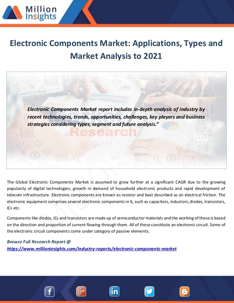 Electronic components market applications, types and market analysis …