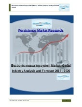 Electronic measuring system Market: Global Industry Analysis and Forecast 2016 - 2026