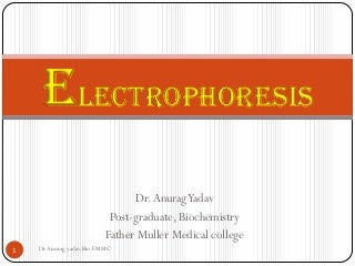 Electrophoresis principle and types
