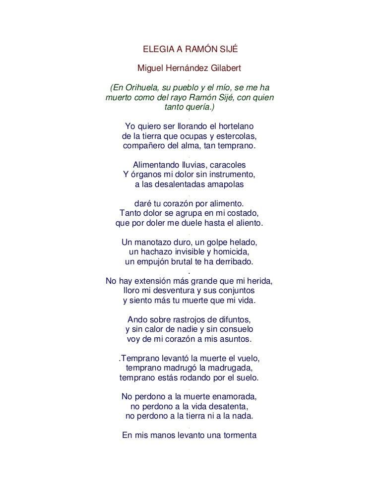 Elegia A Ramón Sijé