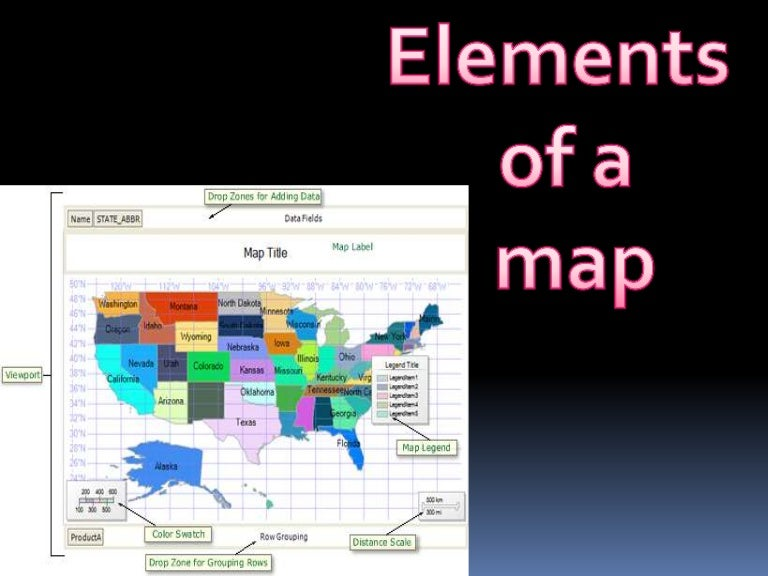 elements of a map 4th grade