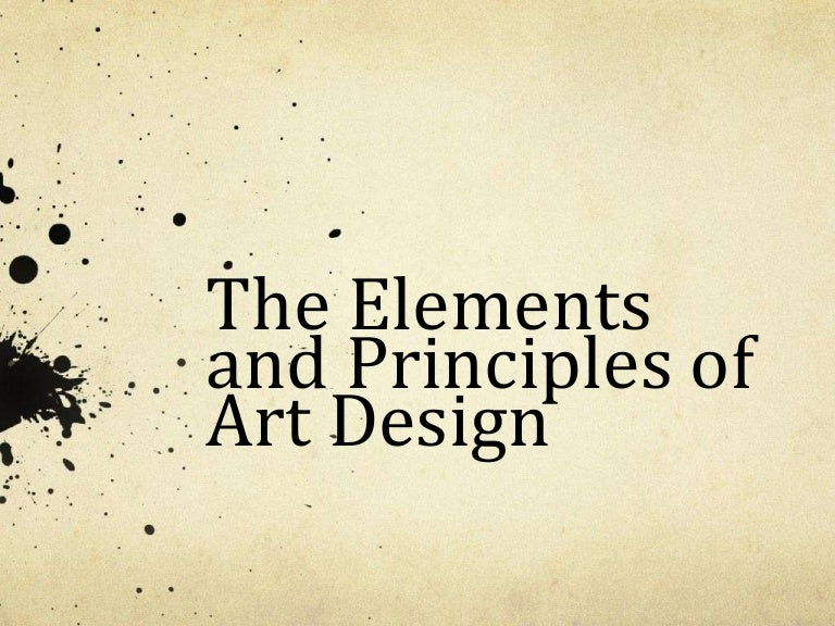 elements principles of art design powerpoint
