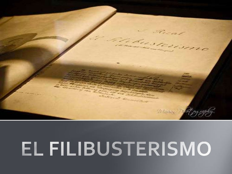 book report on el filibusterismo El filibusterismo the word filibustero wrote rizal to his friend, ferdinand blumentritt, is very little known in the philippines the masses do not know it yet.