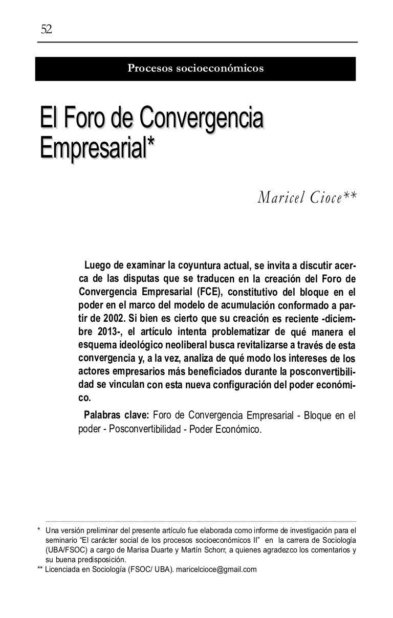 El Foro de Convergencia Empresarial - Maricel Cioce