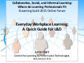 Everyday Workplace Learning; A Quick Guide