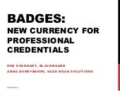 Badges: New Currency for Professional Credentials