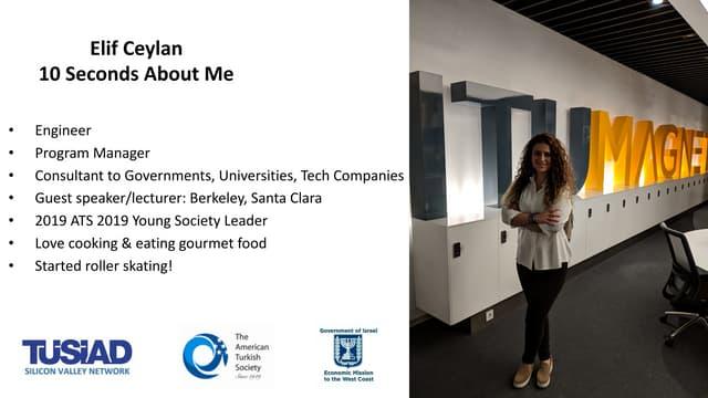 Elif Ceylan - ITU ARI Teknokent & Innogate - University Accelerators in Turkey - Stanford Engineering - 4 Feb 2019