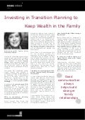 Investing in Transition Planning to Keep Wealth in the Family: Interview with: Leslie Voth - Elite Summit