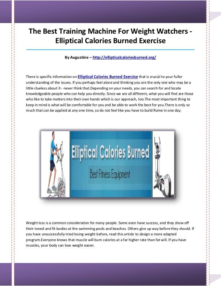 Elliptical Calories Burned Exercise