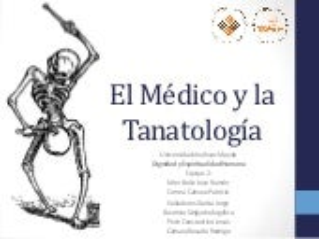 El médico y la tanatología