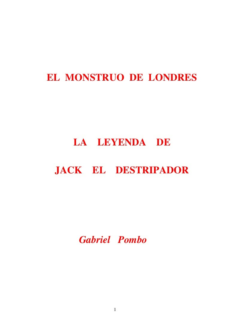 El monstruo de Londres: La leyenda de Jack el Destripador