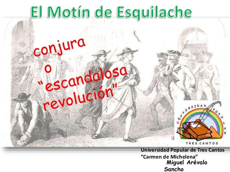 El motín de Esquilache. Conjura o revolución