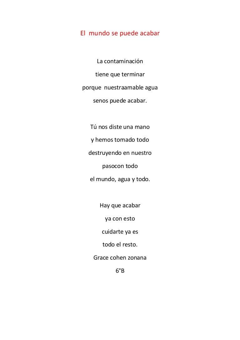 El Mundo Poema Grace