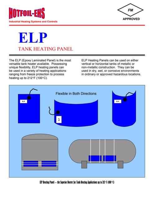 Epoxy Laminated Tank Heater Panels