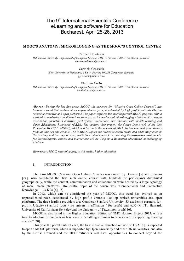 MOOC\'s Anatomy. Microblogging as the MOOC\'s Control Center