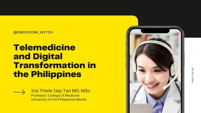Telemedicine & Digital Transformation in the Philippines