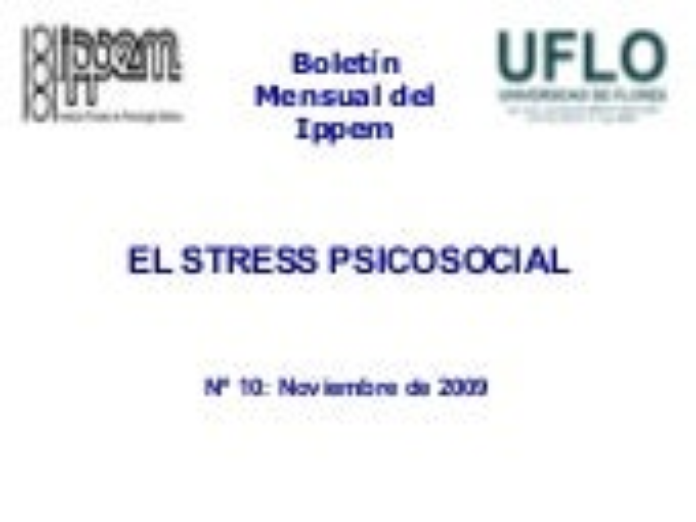El stress psicosocial