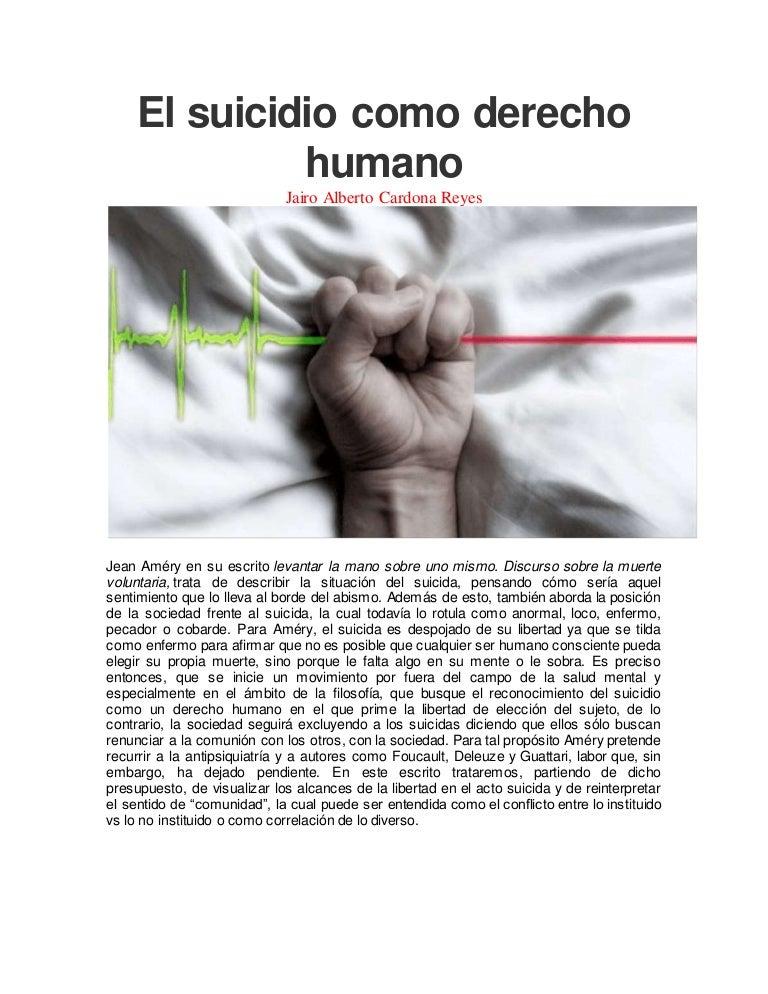 El suicidio como derecho humano