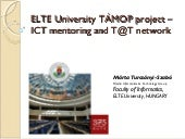 ELTE ICT project