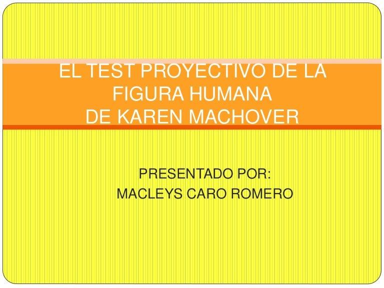 El test proyectivo de la figura humana
