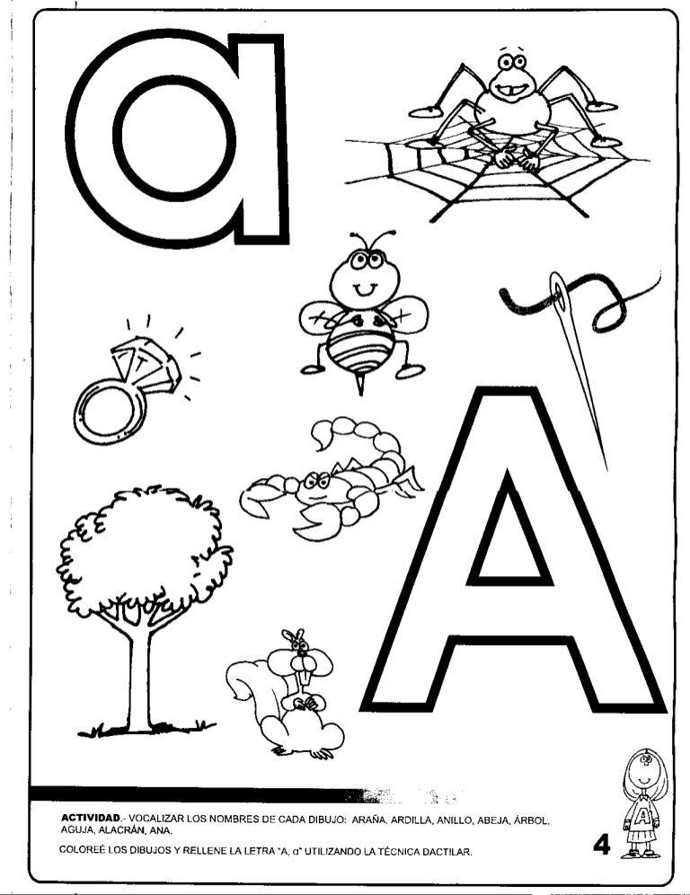 Dibujos Para Pintar Que Empiecen Con La Letra A Figuras Que Empiecen