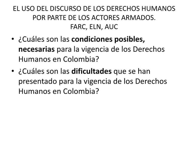 EL USO DEL DISCURSO DE LOS DERECHOS HUMANOS (DIPLOMADO FUNDES MÓDULO III)
