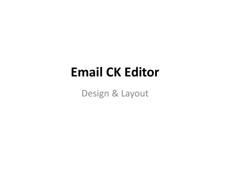 Email ck editor