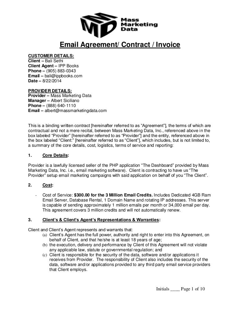 Email Contract Bali Sethi