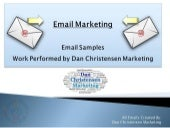EMAIL MARKETING: EMAIL SAMPLES
