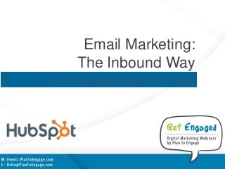 Email Marketing - The Inbound Way