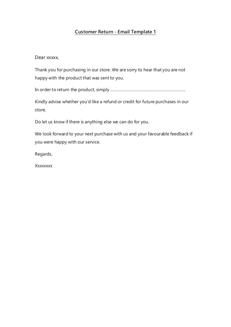 template for customer service
