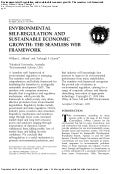 Environmental Self-Regulation and Sustainable Economic Growth: The Seamless Web Framework