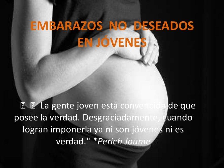 Embarazos No Deseados En Jóvenes