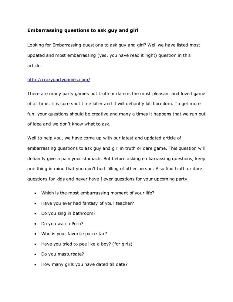 Questions Game To Query A Girl