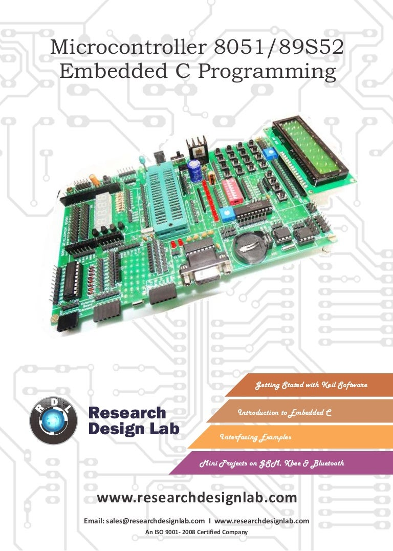 Embedded C Programming Guide E Book Atmel 8051 89c51 89c52 Interfacing Adc To