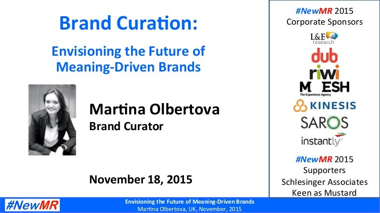 Brand Curation: Envisioning the Future of Meaning-Driven