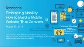 Embracing Mobility: How to Build A Mobile Website that Converts